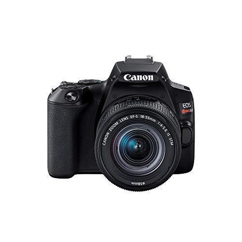 Câmera Canon SL3 DSLR com 24.1MP, 3', Gravação em Full HD - EF-S 18-55MM