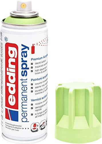 Edding 5200 spray permanente - verde pastel mate - 200 ml - pintura acrílica para pintar y decorar vidrio, metal, madera, cerámica, plástico, lienzo - aerosol, spray acrílico, spray de pintura