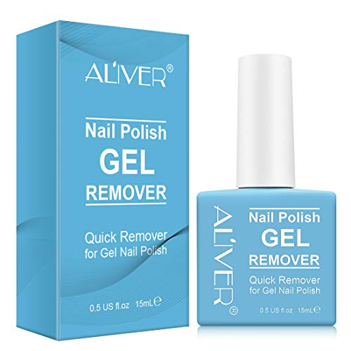 Magic Nail Polish Remover, Professional Soak-Off Gel Nail Polish Remover, Non-Irritating, Easily & Quickly Nail Polish Remover, Protect Your Nails, 15ML