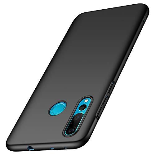 Huawei Nova 4 Hülle, [Serie Matte] Elastische Schockabsorption und Ultra Thin Design (Glattes Schwarzes)
