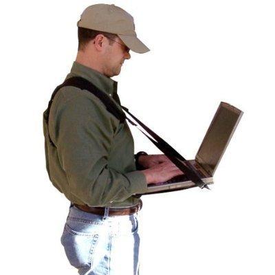 Connect-A-Desk: Mobile Laptop Harness & Desk | Hands Free Portable Adjustable Wearable Desk for Laptop, Tablet, Notepad, MacBook, etc.