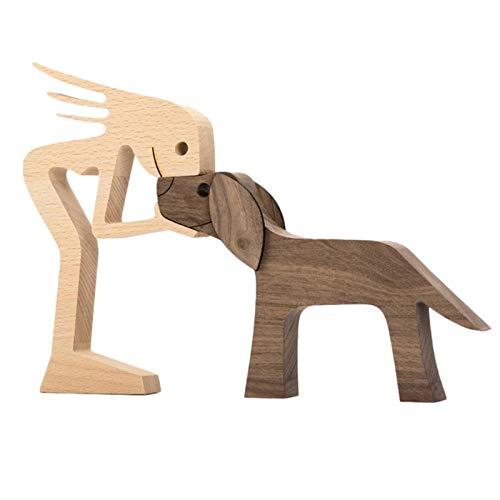 Holz Ornamente | Welpen Holzschnitzerei Dekorationen | DIY Holz Chip Holzdeko Holzhandwerk für Weihnachten Hochzeitsfeier Dekor | Home Office Desktop Kreative Geschenke