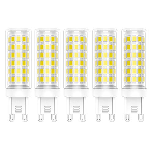 5X G9 LED-Lampen 9W Dimmbar LED Lamp 76 SMD 2835LEDs Koudwit 6000K LED Verlichting Hoge Helderheid 800LM AC220V-240V