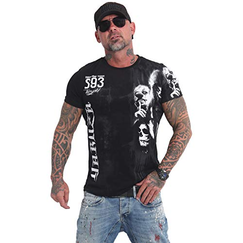 Yakuza Original Herren Waiting Death T-Shirt Schwarz XX-Large