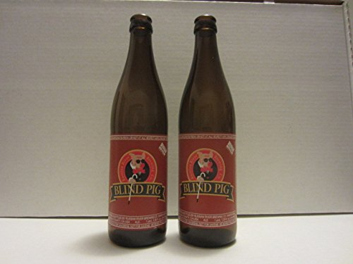 Set of 2 Blind Pig IPA India Pale Ale Russian River Brewing Company Craft Beer Labels Empty Bottles