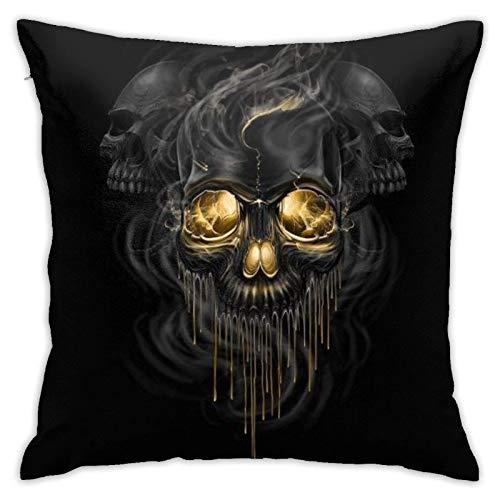 XCNGG Kissenbezug Home Kissenbezug Bettwäsche Throw Pillow Case, Skull Pillow Cover,...