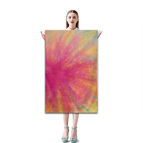 OBS Rainbow Dye Tie Best Lightweight Towel for The Swimming, Sports, Travel, Beach - Gift Waterproof Case