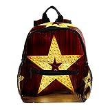 Mochila escolar para niñas con correa para niños, mochila escolar para niñas de primaria, escolar, colorida pared textil