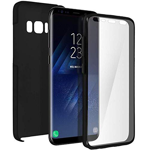 iGlobalmarket Funda para Samsung Galaxy S8 Plus - Carcasa Completa [360] de [Silicona] para móvil - (Transparente Frontal + Trasera Negra)