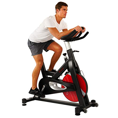 Sunny Health & Fitness Evolution Pro Magnetic Indoor Exercise Bike, Massive 44 lb Flywheel,...