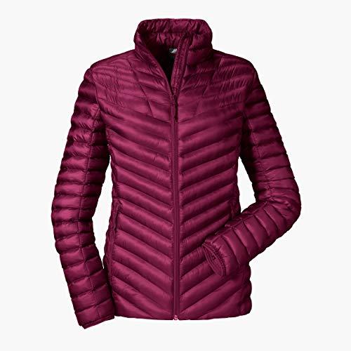 Schöffel Thermo Jacket Annapolis1, gesteppte Thermojacke mit hochschließendem Kragen, wärmende und atmungsaktive Skijacke Damen, beet red, 36
