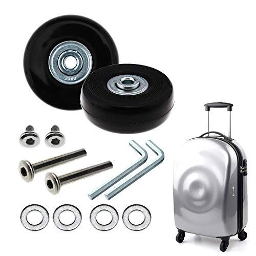 BADASS SHARKS Paar Gepäck-Koffer Ersatz Wheels Rad Gummi Metall für Trolley Gepäckkoffer Hartschalenk ffer (64x18mm)