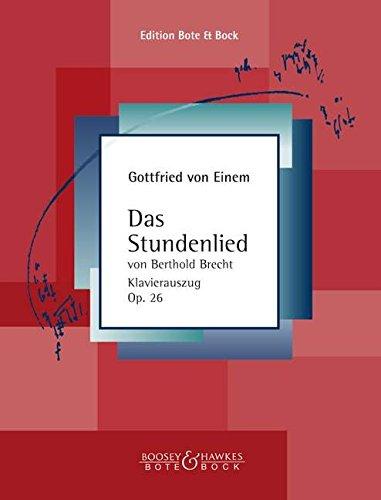 Stundenlied von Bertolt Brecht Op. 26,gem.Chor/Or. Partitions pour Orchestre, SATB