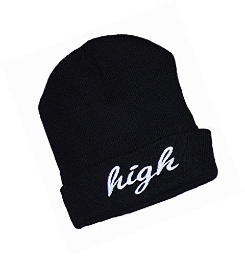 KGM Accessories Neuf Haute qualité Haute brodée Bonnet Noir