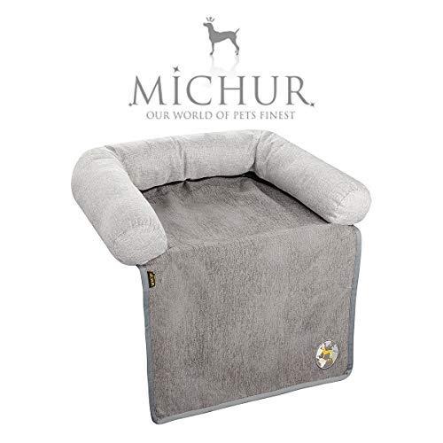 Michur Sofaschutz Rob, waschbares Tier Sofa für Hunde und Katzen in edlem grau, Hundekörbchen, Hundesofa, Hundekissen, Hundebett, 115 cm x 145 cm x 16 cm