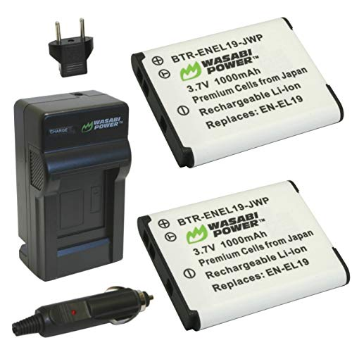 Price comparison product image Wasabi Power Battery (2-Pack) and Charger for Nikon EN-EL19