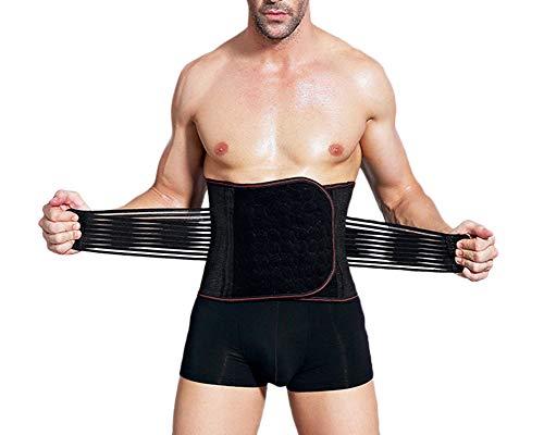 Shaoyao Hombre Slim Fajas Reductoras De Cintura Corsets Adelgazantes Cinturilla Negro M