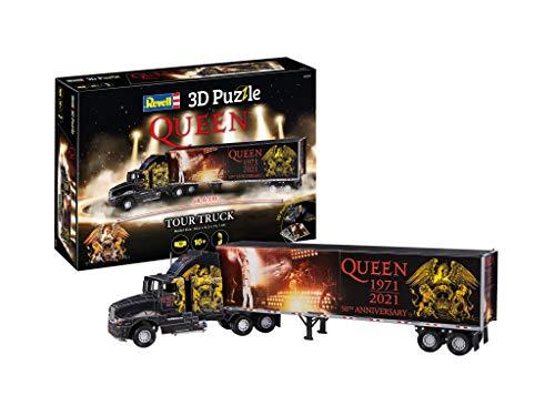 Revell 00230 Queen 50th Anniversary Tour Truck 3D Puzzle 00230-Puzzle camion regina del 50° anniversario, Colore Nero, 230