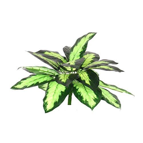 Buisson artificiel dieffembachia nuancé – pour ameublement extérieur – résistant aux rayons U.V. certifié TUV. Haut 43 cm
