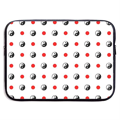 Waterproof Laptop Sleeve 15 Inch, Yin Yang Ball Business Briefcase Protective Bag, Computer Case Cover BAG-5943