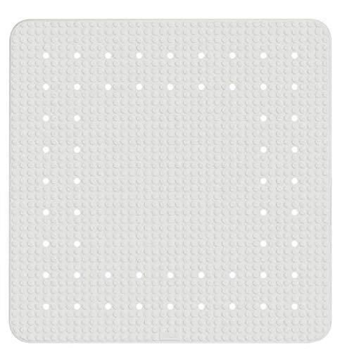 WENKO Duscheinlage Mirasol, Duschmatte, Badewanneneinlage, Anti Rutsch Matte, Quadratisch, Beige, 54 x 52 cm