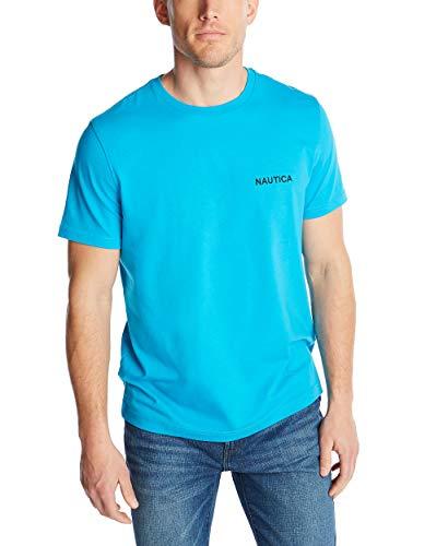 Nautica Men's Short Sleeve Solid Crew Neck T-Shirt, Hawaiian Ocean, XX-Large