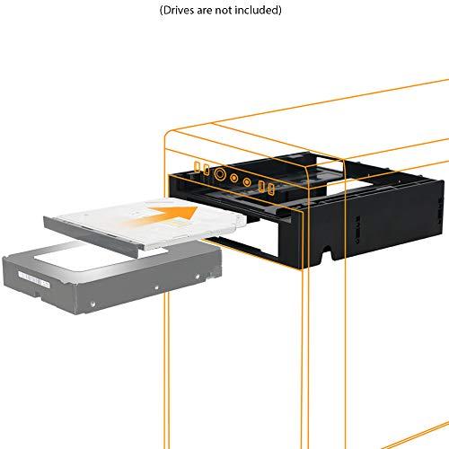 ICY DOCK Frontblenden-Adapter für 1x 3,5 Zoll (6,4cm) Gerät/HDDs und 1x Ultra-Slim ODD in 1x 5,25 Zoll (13,3cm) Flex-Fit Duo MB343SPO