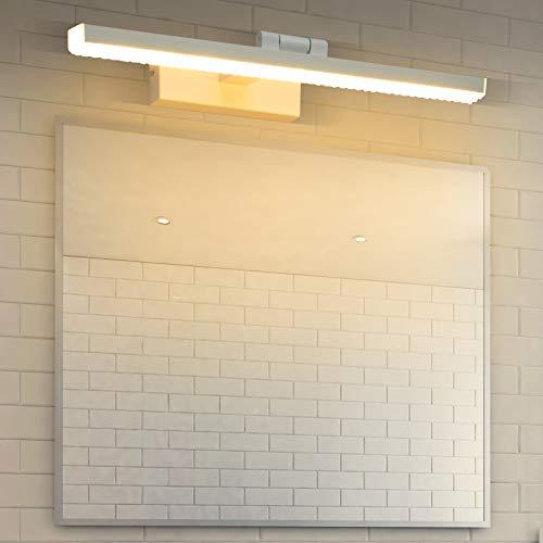 Wowatt Aplique Espejo Baño LED 9W Lámpara de Pared Espejo Blanca Cálida...