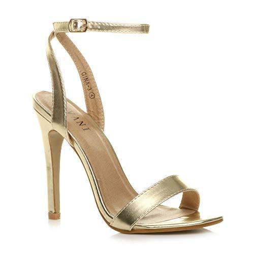 Zapatos de mujer de fiesta, con tacón alto, sandalias con hebilla y correa alrededor del tobillo