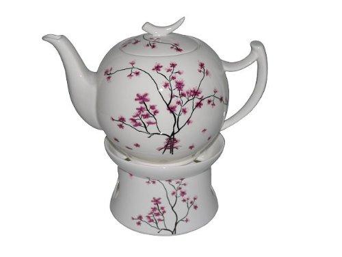 TeaLogic Cherry Blossom 1L Teekanne mit Stövchen