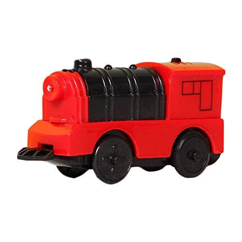 Turtle Story Feuerwehrspielzeug, Kinder, Kinder aus Holz Electric Train kompatibel für Brio Holzspur Mini Daie-Cast Feuermotorauto in Carrier Truck, Mini Rettungsnotfall, rotes Licht elektrisch JXNB
