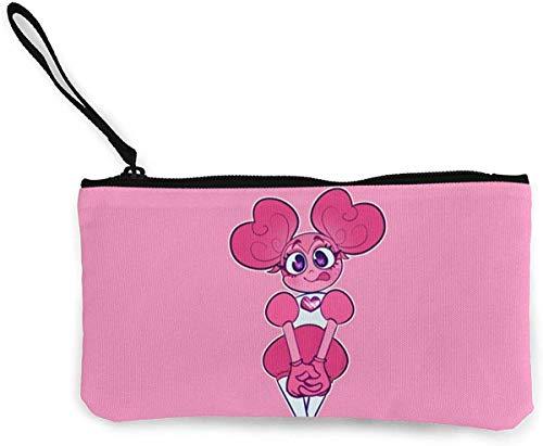 Flyup Steven Universe Spinel Bolsa de cosméticos Monederos Monedero de Lona Cremallera Bolsas de Maquillaje con Correa de Pulsera Monedero para teléfono móvil