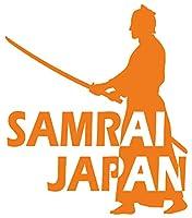 カッティングステッカー SAMURAI JAPAN (侍・サムライ)・4-4 約195mmX約168mm オレンジ 橙