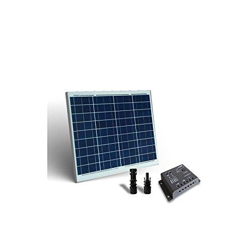 PuntoEnergia Italia - Kit Solare Base 50W 12V Pannello Fotovoltaico Regolatore 5A PWM - KSB-50-12