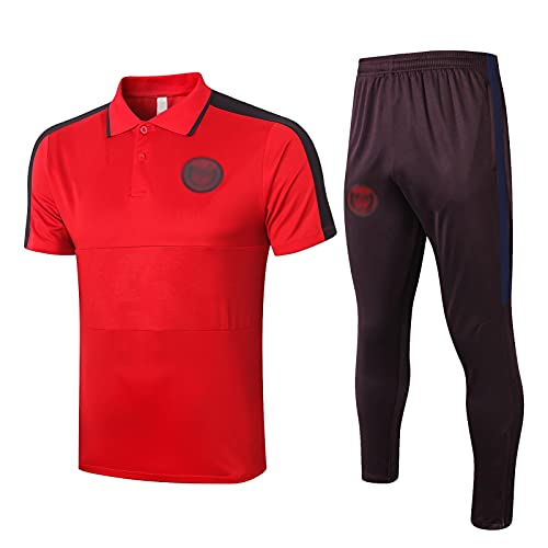 oein Camiseta De Fútbol Para Hombre, Camiseta De Fútbol Transpirable De Secado Rápido, Kits De Camiseta Conmemorativa De Fútbol Ropa De Entrenamiento Suave Y Transpirable (Color : Red, Size : XXL)