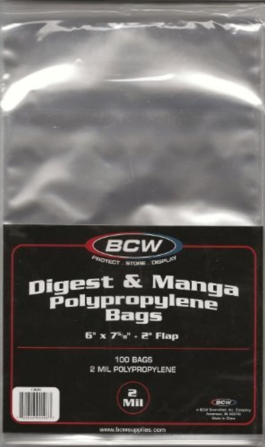 (200) BCW Digest & Manga Bags   Covers by BCW
