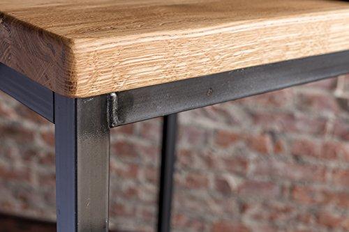 Stehtisch Bartisch Tresen Bar IndustrieDesign Loft (ein Set: 66er Tisch +2 Hocker, Eiche natur) - 5