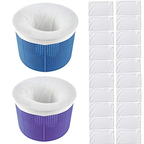 VIHOME Pool Skimmer Socks, 20-Pack of Pool Filter Socks - Perfect Savers for Filters, Baskets and Skimmers Cleans Debris