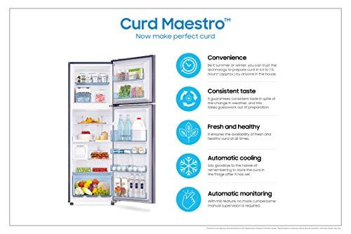 Samsung 244L 3 Star Inverter Frost Free Double Door Refrigerator (RT28T3523S8/HL, Elegant Inox, Curd Maestro) 4