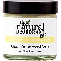 Bálsamo desodorante de limón y geranio