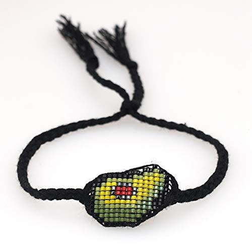 N/A Pulsera Pulseras de Aguacate, joyería para Mujer, Pulseras de diseñador Tejidas a Mano, para niña, Regalo para niños, Accesorios de joyería Regalo de cumpleaños de Navidad