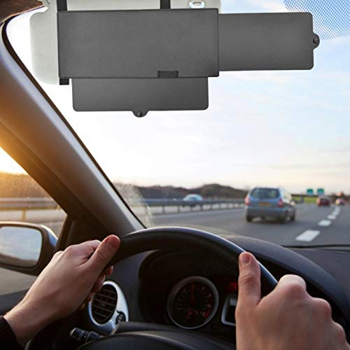 SU-Xuri - Parasol para coche antirreflejos, ajustable a la izquierda y derecha, extensión de parasol de coche para asiento conductor o pasajero delantero (31 x 13 cm)