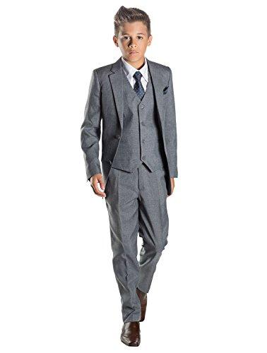 Paisley of London, Anzug für Jungen, Hochzeit, Pagenjunge, Grau, 12–18Monate bis13Jahre Gr. 13 Jahre, grau