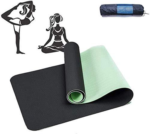Ayanx Estera de Yoga Violeta Verde Oscuro Adecuada para Principiantes para Hacer Hada, Nidra, Tradición, Pilates, Fitness, Reparación, Prenatal y Muchos Otros Deportes