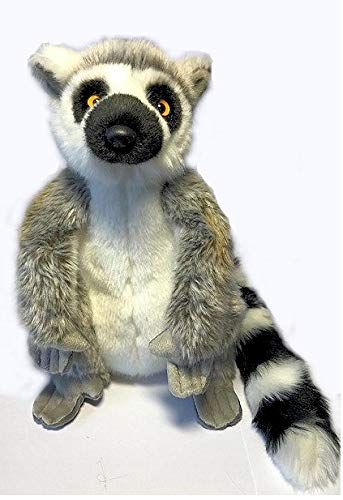 großer Katta Kuscheltier 30 cm - Sitting Ring-Tail Lemur