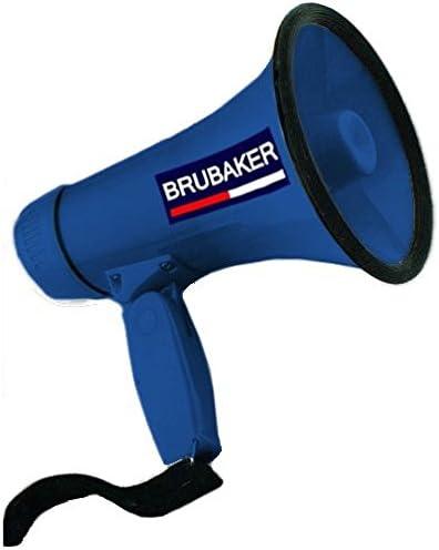 Brubaker Mégaphone - Porte-Voix avec 2 Fonctions: Parler et sirène