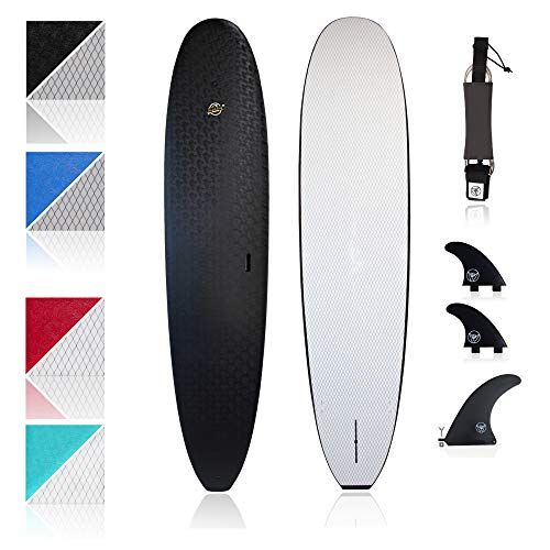 South Bay Board Co. - Premium Beginner Soft Top Surfboards - 8'8 Heritage - The Best Foam Surf Boards for Beginners, Kids, and Adults - Wax Free Soft Top Surfboards for Fun & Easy Surfing (Black)