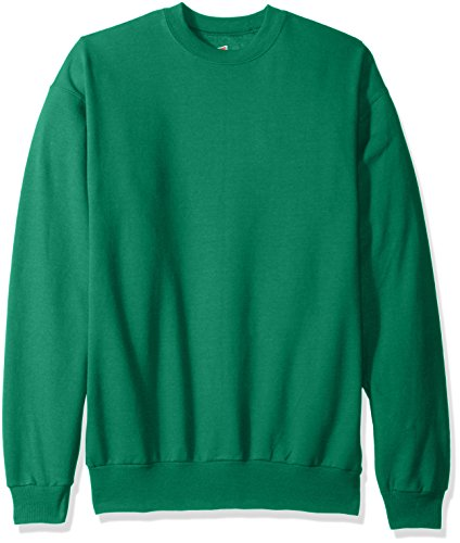 Hanes Men's EcoSmart Fleece Sweatshirt, Kelly Green, Medium