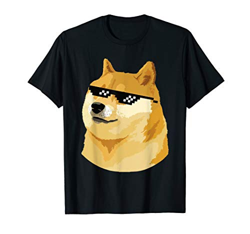 Doge T-Shirt mit Deal with it Glasses