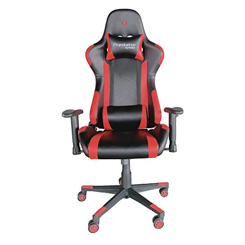 PRIXTON Predator Gaming Chair 10R - Silla Gaming/Silla Gamer con Altura y Reposabrazos Ajustables, Reclinable 180º,...